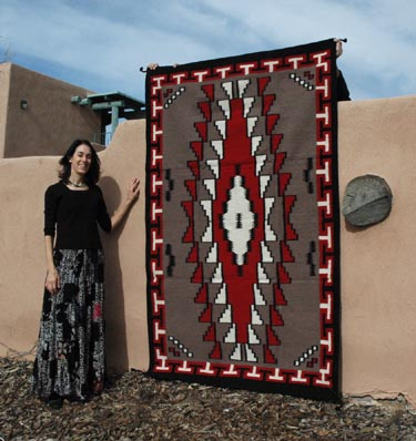 Hand Woven Southwestern Wool Rugs in heavy duty weave, imported reproductions of classic Navajo styles and colors